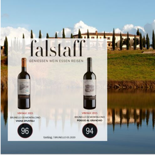 Falstaff: excellent ratings for our 2015 Brunello crus